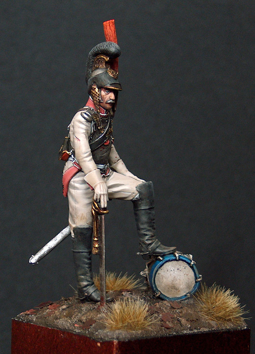 Officer of 1 westfalia cuirassier regiment 1812, Borodino